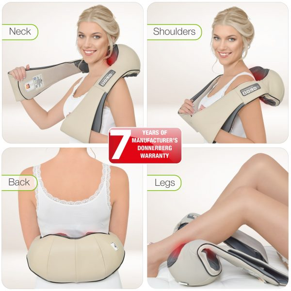 Donnerberg neck and back massager is adaptable to any body part