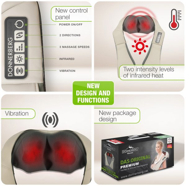 Neck and back massager with infrared heat