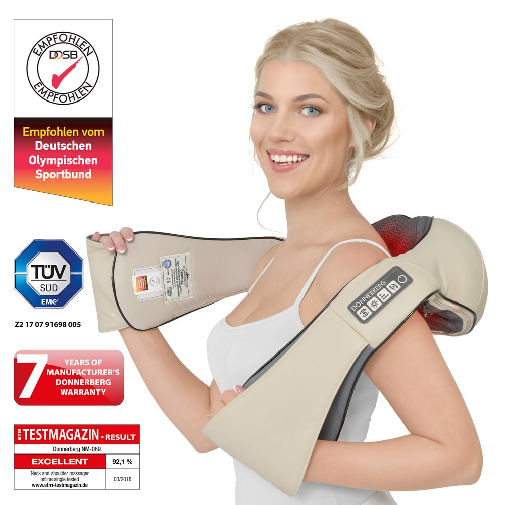 Neck and back massager-Premium NM089 (beige)